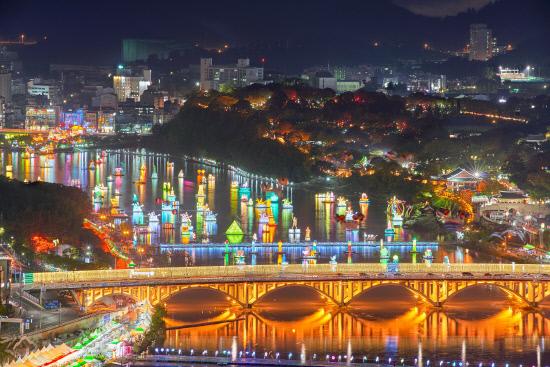 Jinju Lantern Festival from Mount Seonhaksan